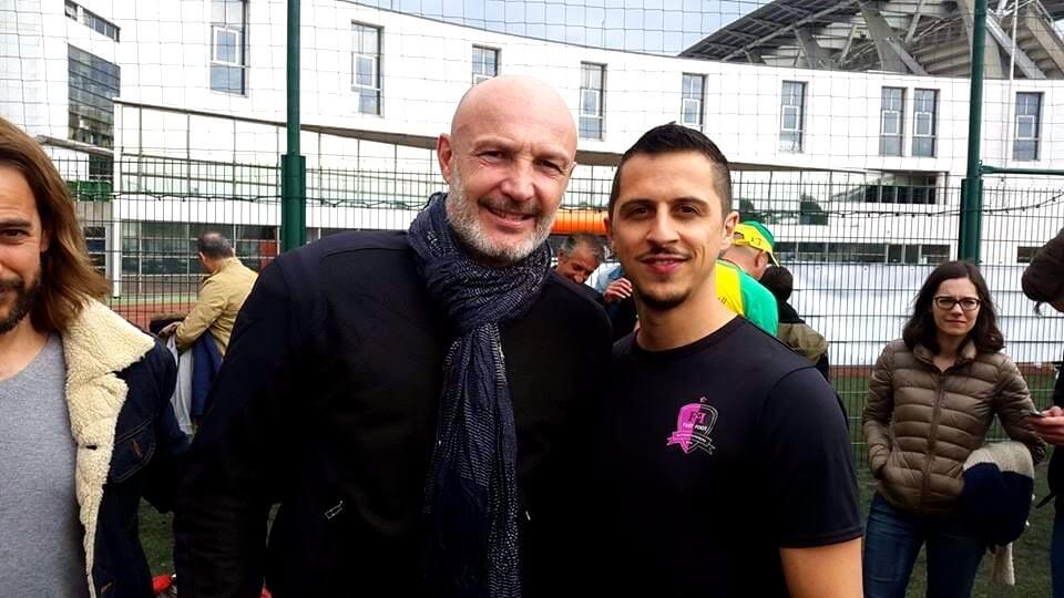 Avec Frank Leboeuf