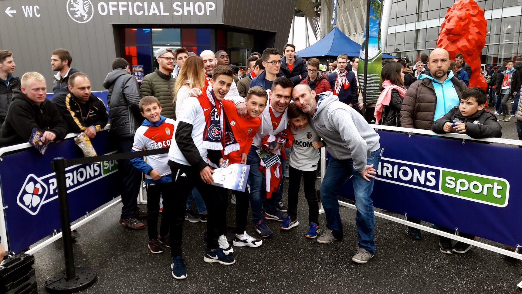 Des supporters de l'AS Monaco
