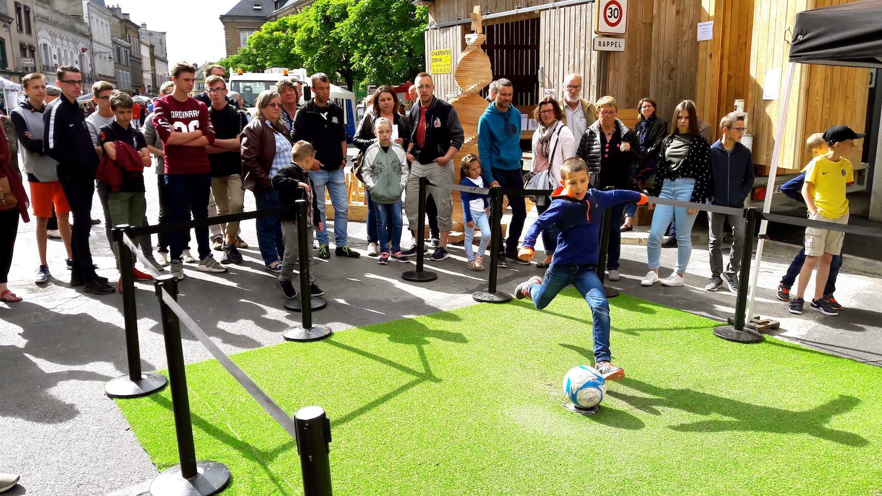 Animation Football dans la rue