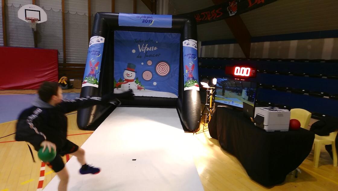 Mesure puissance tir handball animation