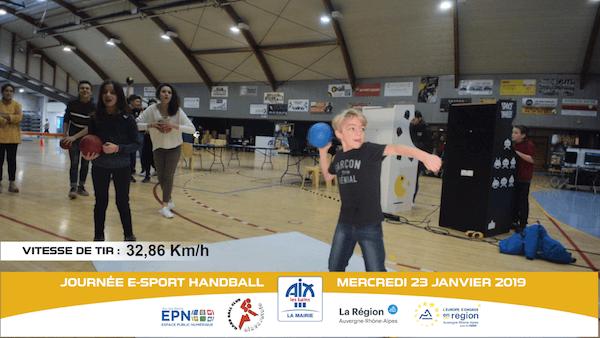 Photo tir handball jet radar simulateur animation