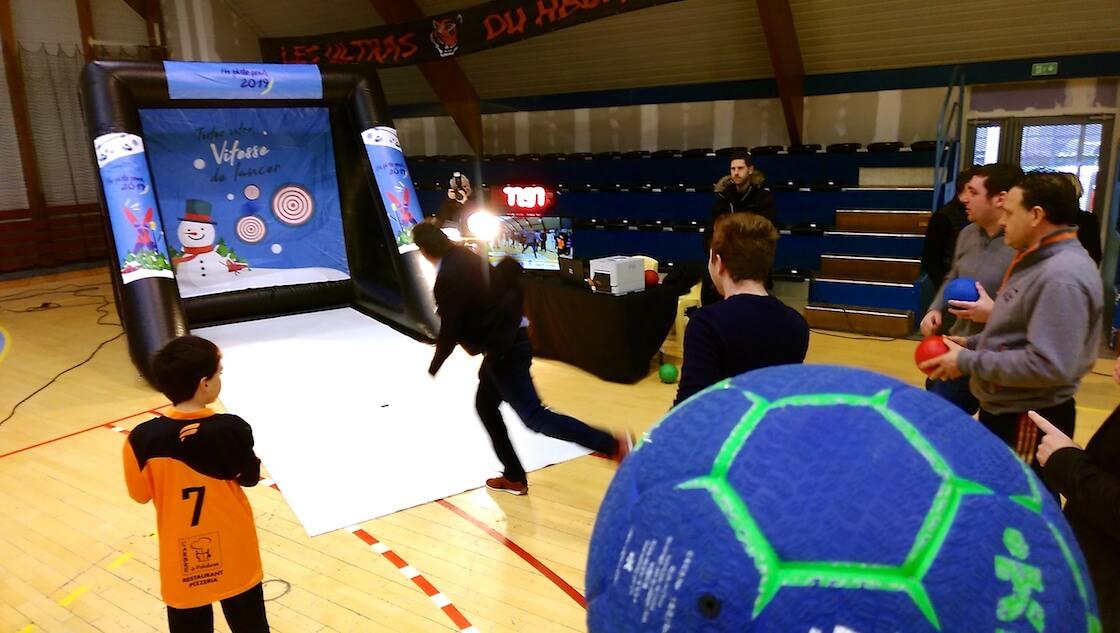 ballon handball animation lancer