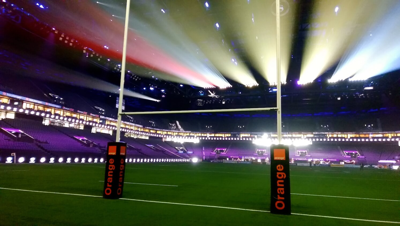 Animation avant-match de rugby La Défense Paris U Arena