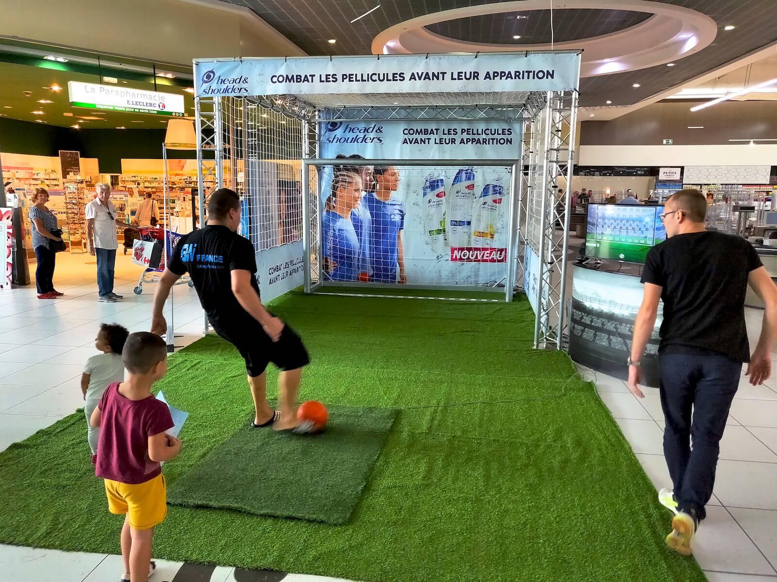 Concours de précision animation événement foot Coupe du Monde Euro 2020