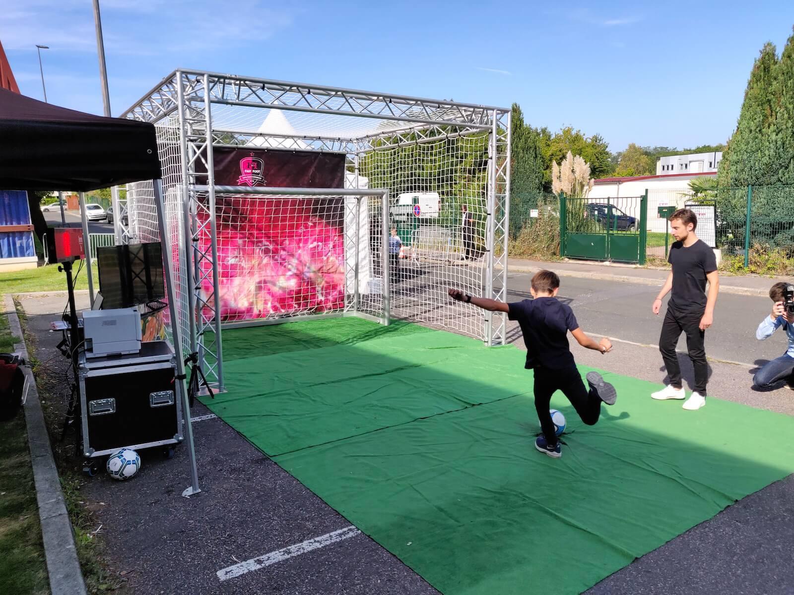 Cage de foot but de foot simulateur vitesse puissance